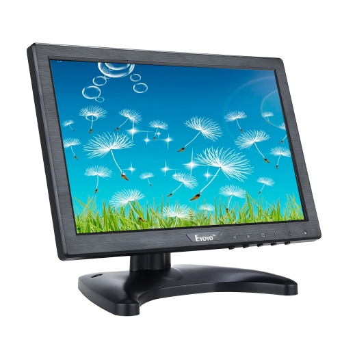 Eyoyo 10 Inch IPS LCD Monitor 1280x800 Resolution Support HDMI VGA BNC AV Input for PC TV Security display(10 inch)