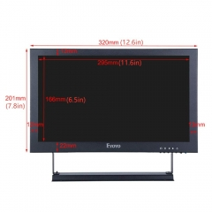 Eyoyo 13 inch IPS HDMI Monitor 1920x1080 16: 9 LCD Screen Display Support HDMI BNC VGA AV USB Intput for DVD PC Laptop Home Security System with Loudspeakers