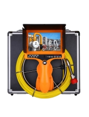 Eyoyo Handheld 35M/115ft Pipe Pipeline Sewer Inspection Camera, Portable Drain Plumbing Wall Industrial Endoscope Waterproof IP68 Snake Video System with 7 Inch LCD Monitor 1000TVL Camera DVR Recorder