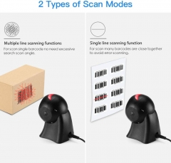 Eyoyo 1D Desktop Barcode Scanner, Omnidirectional Hands-Free USB Wired Barcode Reader Platform Scanner with Automatic Sensing Scanning for POS Supermarket Library Retail Store Warehouse Bookstore