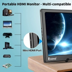 Eyoyo Portable HDMI Monitor 13.3 inch Monitor 1080P Dual HDMI Inputs Gaming Monitor Second Monitor for Laptop PC, Gaming Monitor Compatible with PS4 Xbox One