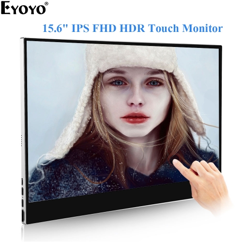 "Eyoyo EM15P 15.6"" inch IPS Display 1920x1080 Portable HDMI Monitor HDR Display Second Screen for Laptop PC Gaming Monitor"