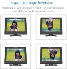 Eyoyo S801H 8 Inch HDMI Monitor 1024x768 Resolution Display Portable 4:3 TFT LCD Mini HD Color Video Screen Support HDMI VGA BNC AV Ypbpr Input for PC CCTV Home Security with Mount