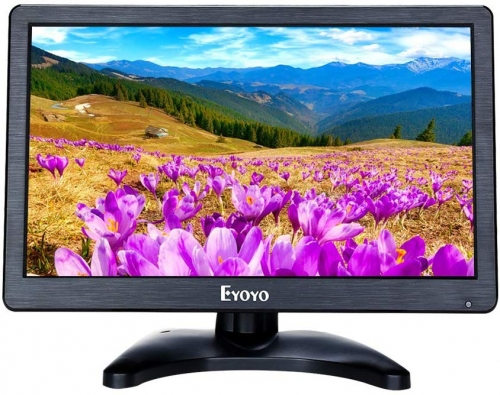 Eyoyo EM12D 12 inch HD 1920x1080 IPS LCD HDMI Monitor Screen Input Audio Video Display with BNC Cable for PC Computer Camera DVD Security CCTV DVR Home Office Surveillance