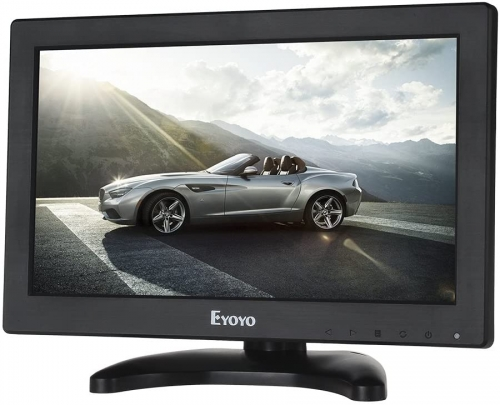 "Eyoyo 12"" Inch TFT LCD Monitor with AV HDMI BNC VGA Input 1366x768 Portable Mini HD Color Screen Display with Built-in Speaker"
