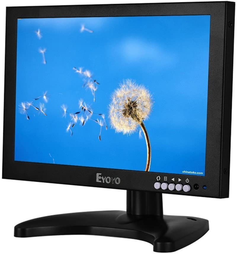 Eyoyo EM10C 10 Inch IPS LCD Hdmi Monitor 1920x1200 Full HD Monitor with HDMI/BNC/VGA/USB Input and Speaker for FPV Video Display DVD PC Laptop